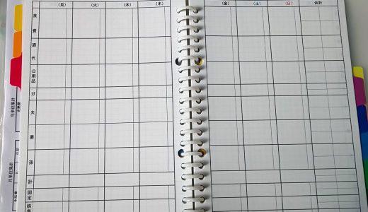 孫と私の家計簿・用紙はエクセルで印刷しました。