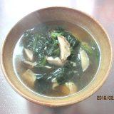 みそ汁を食べよう④番外編お雑煮(ほうれん草・鶏肉・しいたけ)